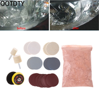 OOTDTY 34 Pcs Deep Scratch Remover Car Glass Polishing Kit 8 OZ Cerium Oxide And 2