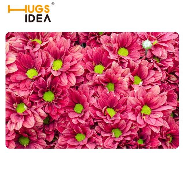 New Home Welcome Mats Cartoon Carpets Green Flower Pattern For ...