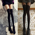 2016 Sexy Women Sheer False High Stocking Fashion Over the Knee Tattoo Pantyhose Tights for Girls