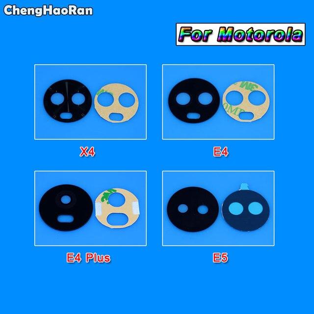 ChengHaoRan pour Motorola Moto G3 G4 G5 G5s Plus G6 Play G7 couverture dobjectif en verre de caméra arrière arrière + autocollant adhésif