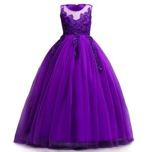 Image 2 - 女の子夏7 8 9 10 11 12年ウェディングフラワーガールズドレスための子供パーティードレス子供衣装服