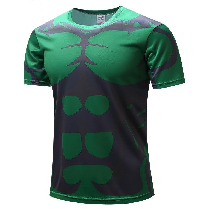 2018 New Superhero T Shirts The Hulk 3d Printed T Shirts Compression Shirt 3d Short Sleeve T Shirt Fitness Men Crossfit Tops