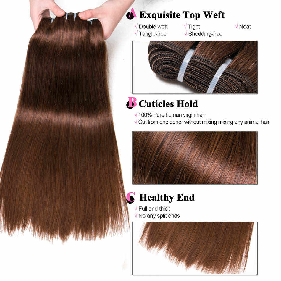 Ali-Beauty Straight Human Hair Weft Bundles Remy Natural Human Hair Extension 100g Can Curly 18-26""