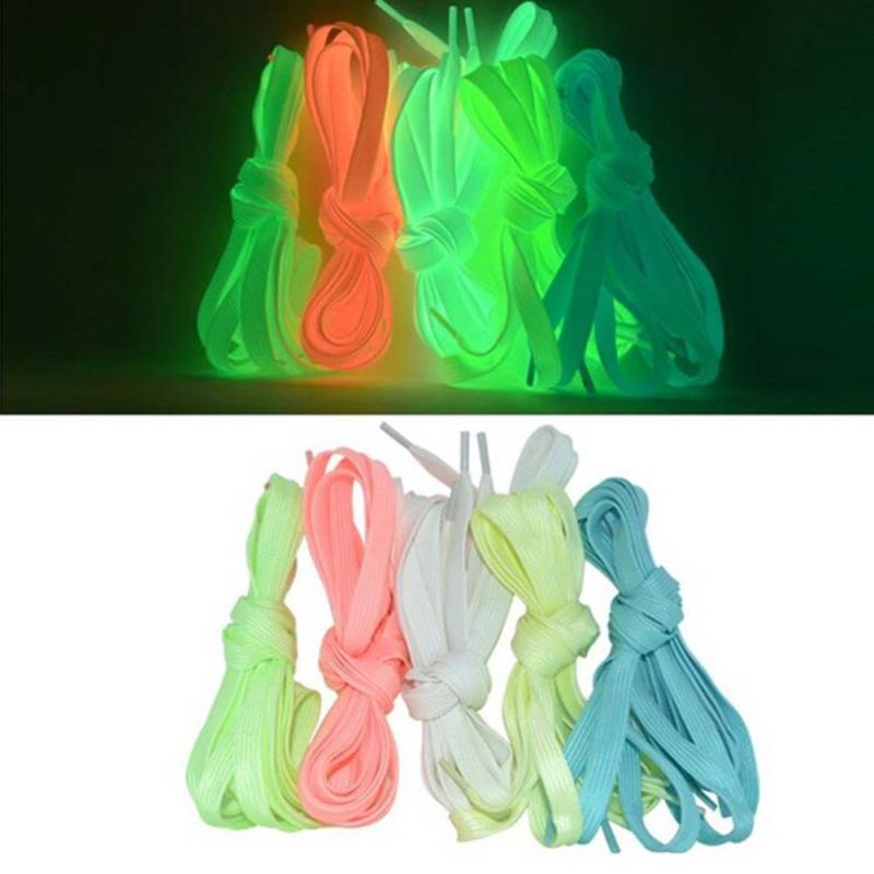 1pair Sport Luminous Shoelace Glow In The Dark Night Color Fluorescent Shoelace Athletic Sport Flat Shoe Laces Hot Selling 1pair 120cm sport luminous shoelace glow in the dark night color fluorescent shoelace athletic sport flat shoe laces hot selling