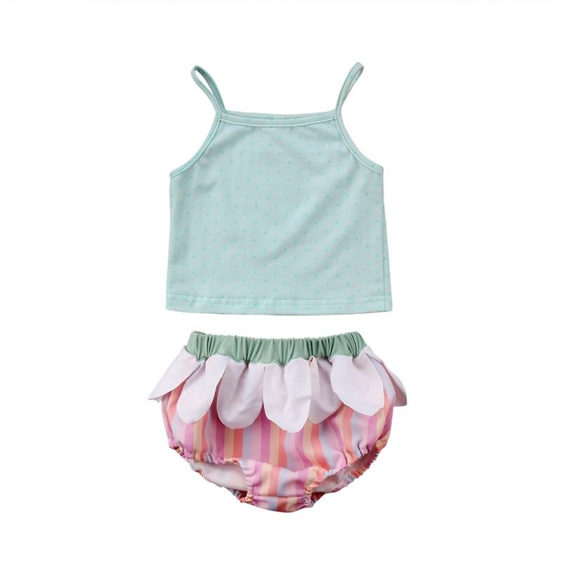 Casual Baby Boys Girl Summer Clothing Sets Kids Lace Camisole Vest Flower Shorts Bottoms 2Pcs Sunsuit Clothes Set