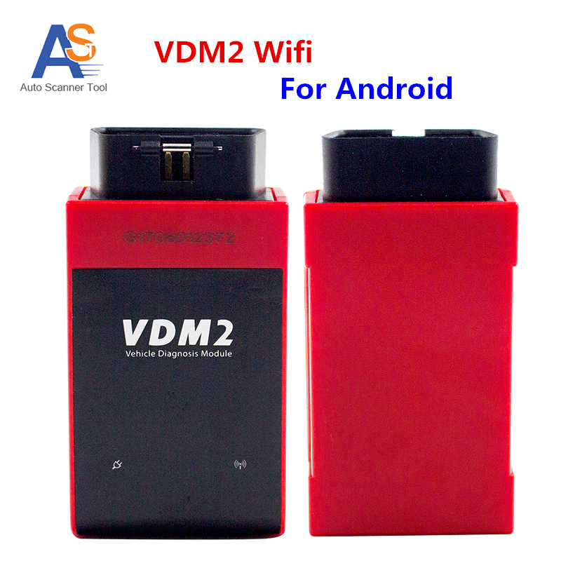 UCANDAS VDM2 full system Auto Diagnostic Scanner for Android VDM II OBDII Code Reader Support Multi-Language Free shipping hot new xtuner e3 easydiag wireless obdii full diagnostic tool with special function pefect replacement for vpecker easydiag