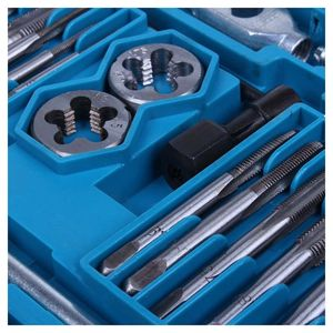 Image 5 - Tap and Die Set 40 Piece w/Case Tapping Threading Chasing Repair NEW
