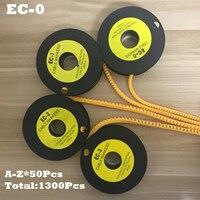 1300pcs Lot EC 0 1 5mm2 A Z ABCDEFGHIJKLMNOPQRSTUVWXYZ English Letter PVC Flexible Print Sleeve Tube