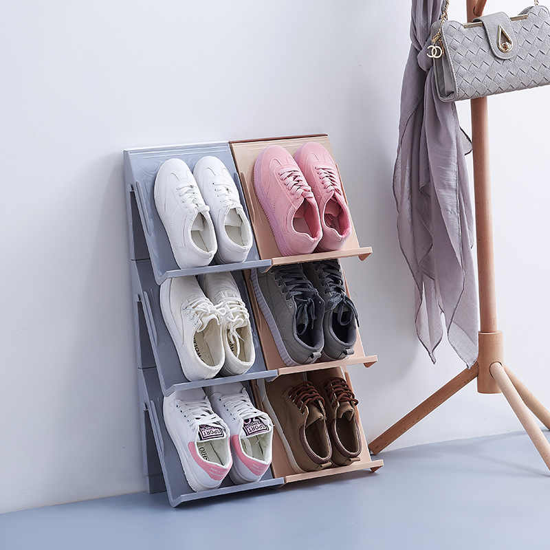 Multi-functional Splicing Can Suspend Multi-layer Superimposed Three-dimensional Shoe Rack Simple Shoe Storage Finishing Rack