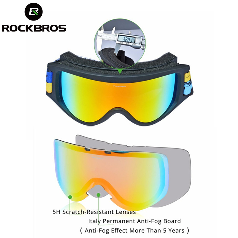 SKi Snow Adult GOGGLES Ski Snowboard Winter AntiFog Lens Dual Eye Wear Len