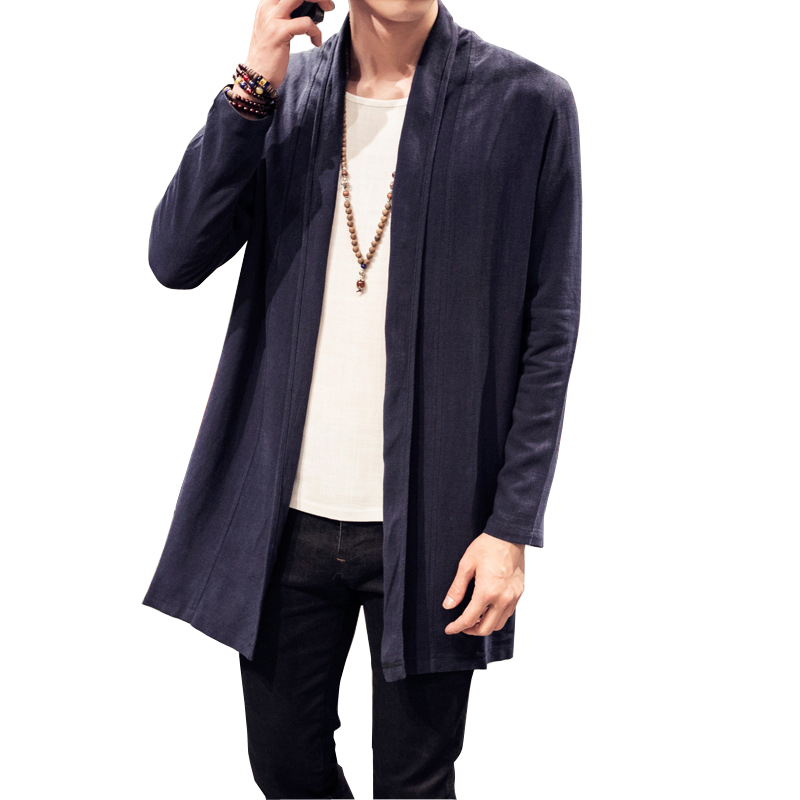 Men S Linen Jacket Autumn Winter Jacket Chinese Style