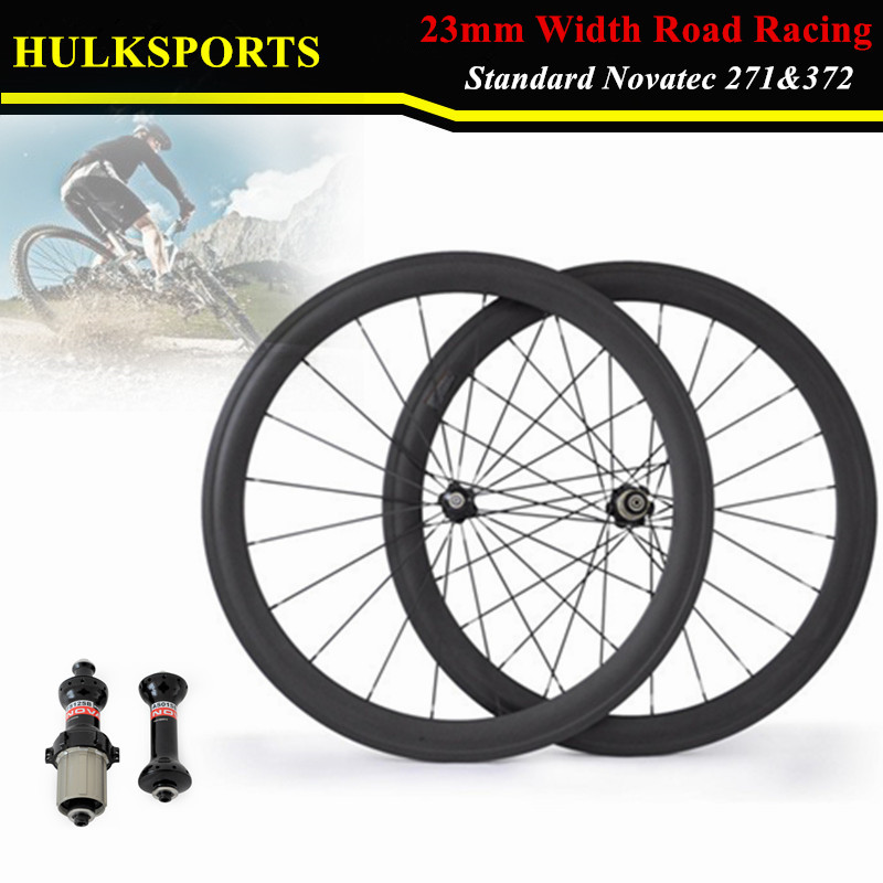 single wheel 700C Carbon wheels 23mm width 50mm clincher with Novatec A271SB /F372SB Hub HK-WH-50C-W23-C-F far sports carbon wheels 50mm clincher 23mm wide with novatec hub and sapim spokes novatec carbon wheels fsc50cm 23 700c