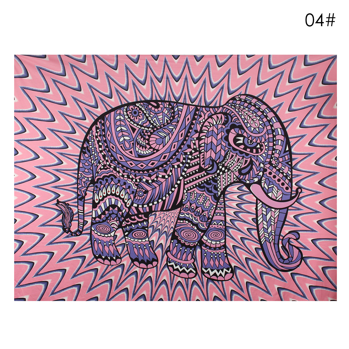 Elephant Mandala Tapestry Throw Towel Hippie Tapestry Floral Printed Home Decor Wall Tapestries Bedspread 210*150CM 15