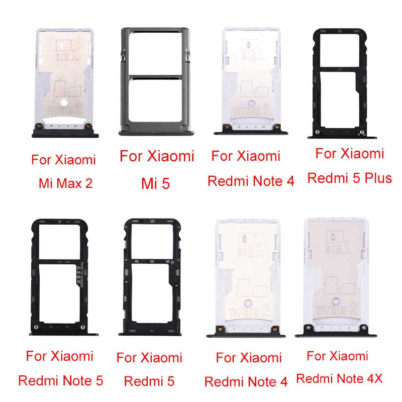 SIM & SIM / TF Card Tray For Xiaomi Mi Max 2\Redmi Note 4\Note 4X\ 4X\5 Plus\Note 5\ 5\ Mi 5