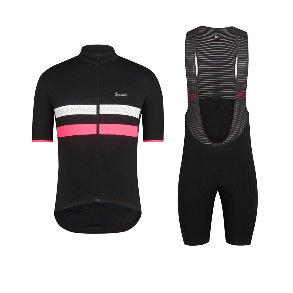 a048d274c SPEXCEL 2017 NEW Black Pink Pro teaem SHORT SLEEVE CYCLING JERSEY Cool cycling  wear Ropa Ciclismo road bike clothes best quality