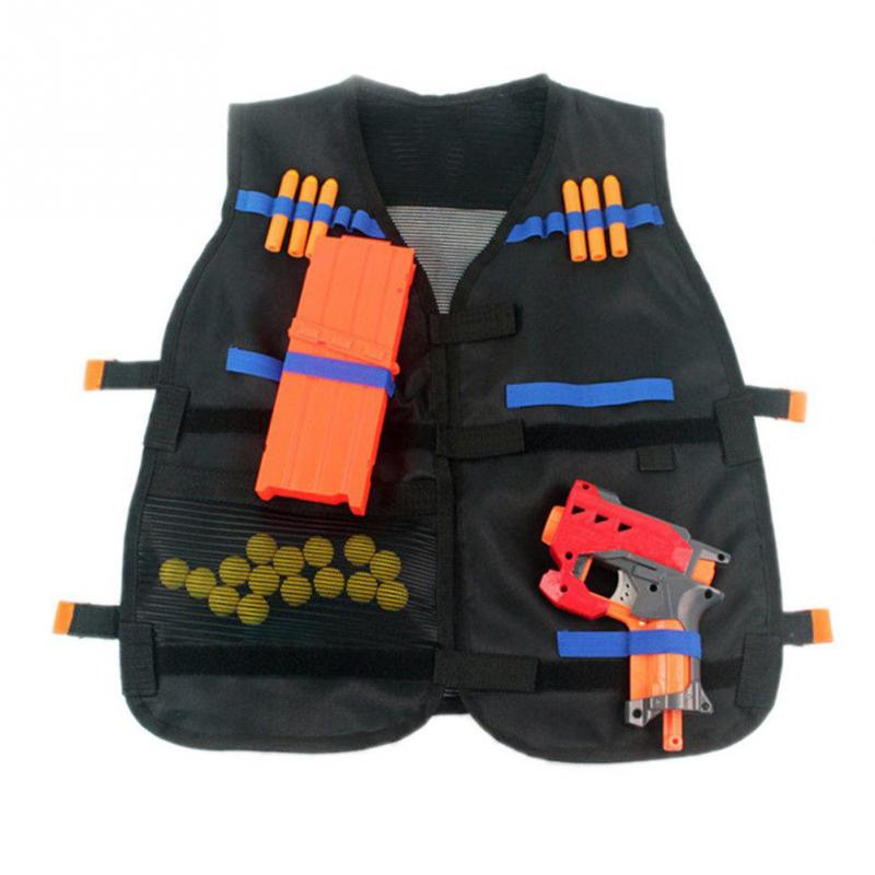 54*48cm Outdoor Games Tactical Vest Kids Toy Gun Clip Jacket Foam Bullet Holder Tops Fit For Nerf  Elite Team Waistcoats #15