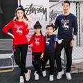 (3XL 4XL) Correspondência Tops de Algodão Set Família Dos Cervos do Natal da família Filho Pai Mãe Filha Crianças Roupas Roupas Família LT7