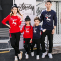 (3XL 4XL) Family Matching Cotton Tops Family Set Christmas Deer Mother Daughter Father Son Toddlers Clothes Family Clothing LT7