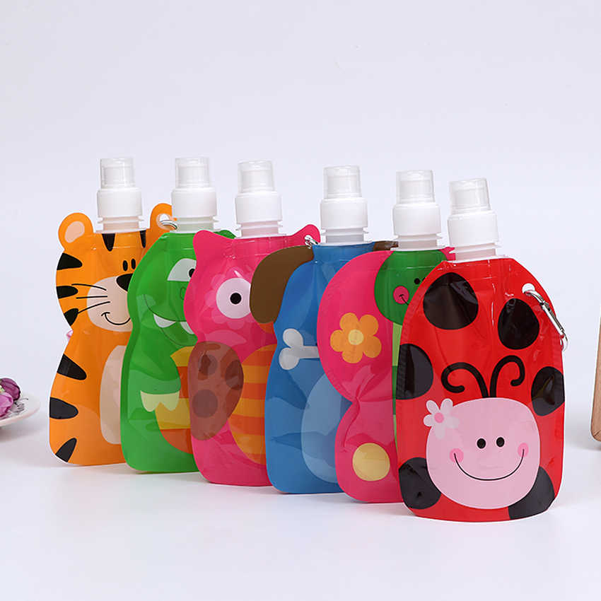 Children Gift Cartoon Water Bags Kids Juice Bottles Party Favors Event Supplies for Birthday Party 200ml