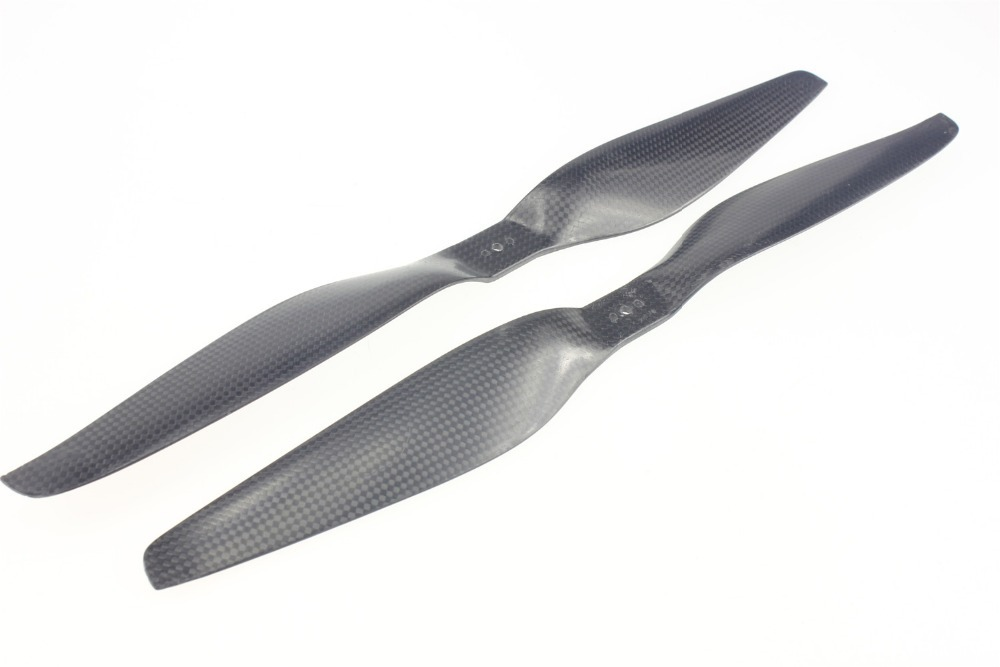 F06794 15x5.5 3K Carbon Fiber Propeller CW CCW 1555 CF Prop Con For T-Motor Multicopter Quadcopter Hexacopter t motor 1255 three hole carbon fiber propeller cw ccw for rc aircraft 2 pairs