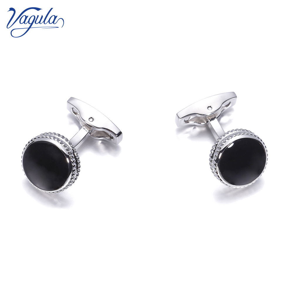 VAGULA Cufflinks Black Enamel Gemelos Top Luxury Men French Shirt Cuff links Wedding gift 825