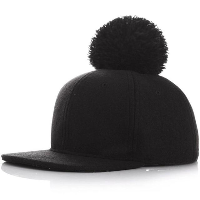 994a1d62 € 7.33 |Moda de Invierno sombreros de Ala Sombreros para Hombres Mujeres  Bola Casquillo Del Snapback Gorras de Béisbol Femenino Bebé Snapback ...