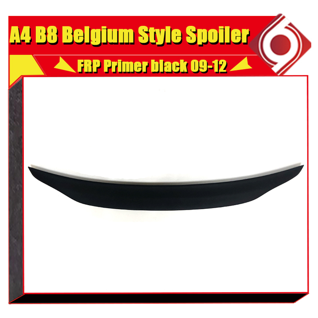 FRP Unpainted Belgium Style Rear Trunk Lip Spoiler Boot Lip Wing Fit For Audi A4 B8 Non-Sline Sedan Wing Rear Spoiler 2009 -2012