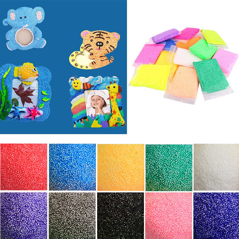 50g 10 Colors New Snow Mud Fluffy Floam Slime Putty Scented Stress Relief Kids Toy Home Wedding Party DIY Decoration