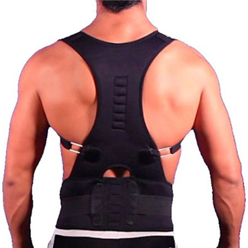 2016 Hot Sale Adjustable Posture Corrector Belly Sweat Belt Brace Shoulder Back Support Men Corset ̿̿̿(\u2022̪ )2016