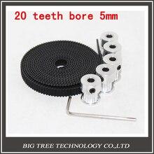 5 шт. 20 зубов Gt2 Ролик и 5 М Gt2-6мм Gt2 ремень пояс для 3d-принтер с 10 х M3 Винты, Шестигранный Ключ diy