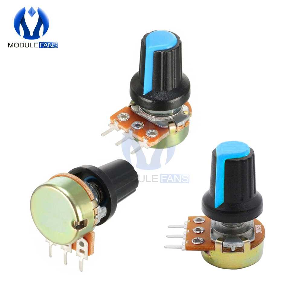 5PCS AG2 A-2 WH148 Linear Taper Rotary Potentiometer With Knob Cap 1K 2K 3K 5K 10K 20K 30K 50K 100K 200K 300K 500K 1M Ohm