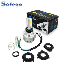 H6 BA20D H4 PH7 PH8 led Motorcycle headlight h4 12v 18w 2000lm 6500K H6 Hi/Low Bulbs motorcycle  H6 headlamp lamp Light 12V newest h4 motorcycle headlight hi low bulb all in one lamp 12v 2 sides led motorcycle headlamp with blue led on top