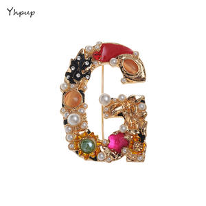 Yhpup Pearl Brooch For Women Brooches Pin Accessories 582a57fbf29a