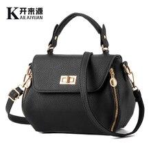 KLY 100% Genuine leather Women handbags 2019 New bag female Korean stereotypes fashion Shoulder Messenger Handbag