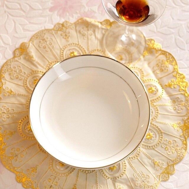 High-Grade Dinner Plate Dinnerware Bone China Rice Dish 8 Inch Round Plate Private Home & High Grade Dinner Plate Dinnerware Bone China Rice Dish 8 Inch Round ...