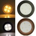 LEDGOO Mini Round 4 LED Led Cabinet Light Sensor Touch Stick Led Lamp Battery Practical Home Night Light Lamp Cordless Bulb