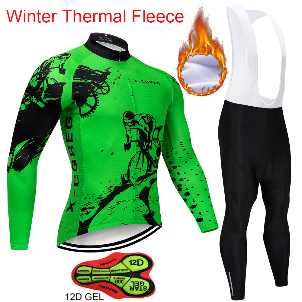 2018 New Winter Thermal Fleece Cycling Clothing Pro Team Bike Clothes Wear MTB Bicycle Jersey Set Maillot Ropa Ciclismo Invierno racmmer 2018 summer cycling jersey set pro team aero clothing mtb bicycle clothes wear maillot ropa ciclismo men cycling set
