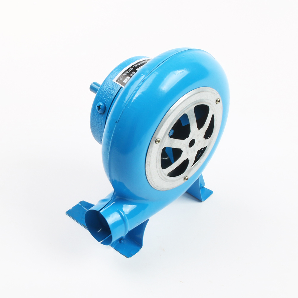80w Outdoor Barbecue Iron Gear Hand Crank Blower Hand Fan Manual Fire Blower Popcorn Fan Blue