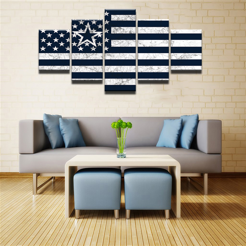 Tyg moderna Decoración para el hogar arte de la pared lona 5 ...