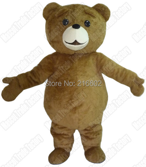 cosplay costumes ew character fur brown teddy bear mascot costumes free shipping