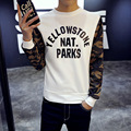 2016 Round Neck Hedging Camouflage Fleece Sweatshirt Men's Hip-Hop Dead Fly Casual Couple Street Tide Brand America Pullover Men