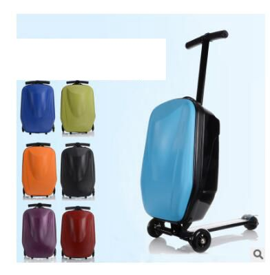 backpack with skateboard suitcase with wheels rolling travel luggage scooter with bag portable multi functional trolley case Skateboard Rolling Luggage 20 Inch Travel Luggage Case Scooter Case Cabin Luggage suitcase micro scooter suitcase on wheels