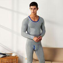 A Set Cotton Men Thermal Underwear Long Johns Winter Sexy Pa