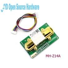 1 módulo infravermelho do sensor do dióxido de carbono do sensor MH Z14A do co2 dos pces, porta serial, pwm, saída análoga com cabo