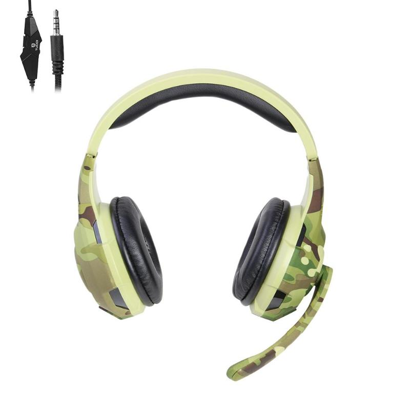 New camouflage 3.5mm Gaming Headphone Earphone Casque Head-mounted  with Mic for Xbox One PS4 Support active noise reduction