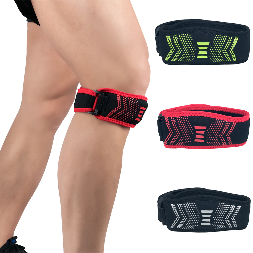 Sports Adjustable Patella Knee Support Basketball Protector Brace Strap 1 Piece SPSLF0075
