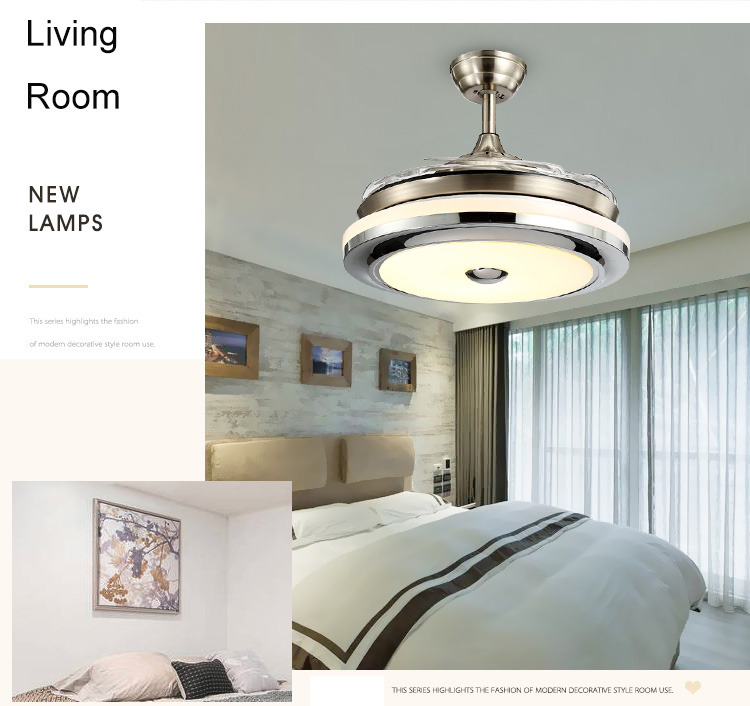 Ambiente arioso, tanta luce, chiacchiero o sbircio la tv mentre cucino, ho. High Quality 3 Color Led Fan Lamp Changing Light Modern Led Invisible Ceiling Fan Light Remote Control Ceiling Lamp 110 240v Chandeliers Aliexpress
