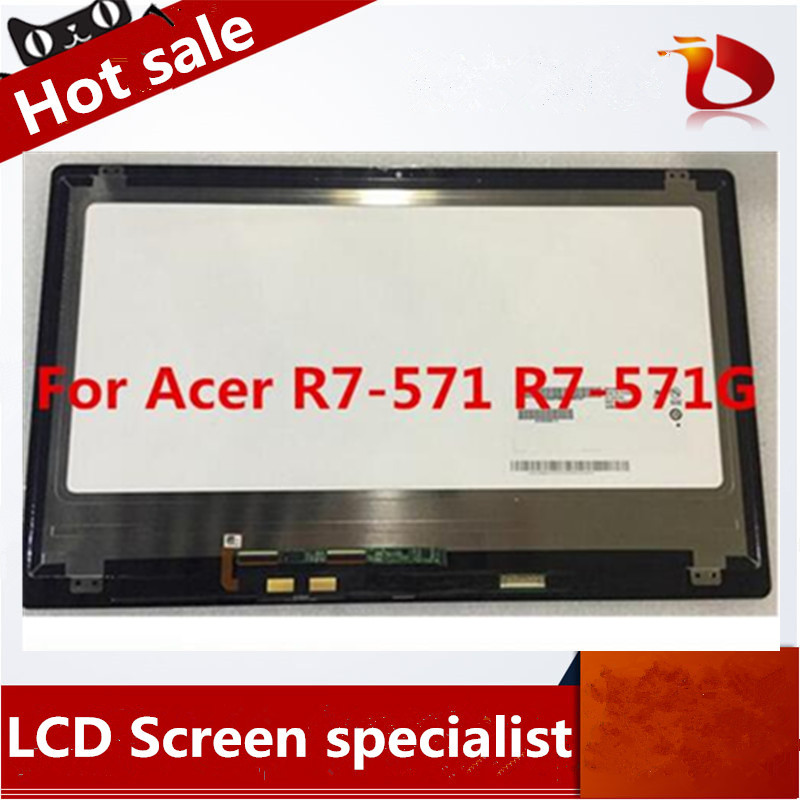 New 15.6 LCD Screen B156HAN01.2 +Touch Panel Digitizer Assembly For ACER ASPIRE R7-571 R7-571G 1920*1080 new 11 6 for sony vaio pro 11 touch screen digitizer assembly lcd vvx11f009g10g00 1920 1080