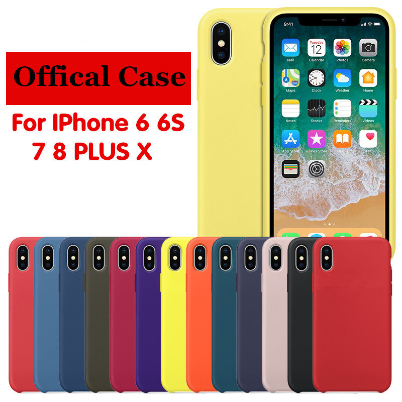 High quality Original Offical With LOGO Silicone Case For iPhone 7 8 Plus X For Women Cover For iPhone 6 6 Plus Retail Box Cases
