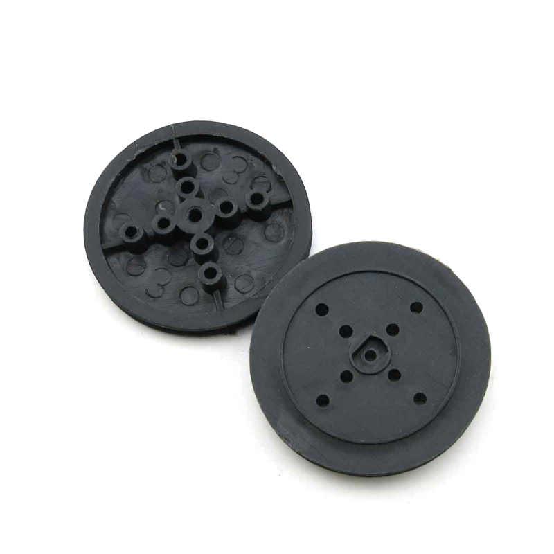 36mm Preto Polia DIY Modelo de Tecnologia Hub Poroso Correia de Transmissão Da Engrenagem Roda De Brinquedo de Plástico